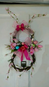 pink flower wreath Bellflower, 90706