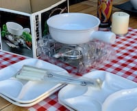 Cheese Fondue Set + 4 plates 2398 mi