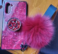 Samsung Note 10 Rhinestone Marble Fur Ball Shiny Stand Cass London, N6E 1V4