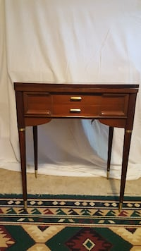 brown wooden single-drawer end table Fairfax