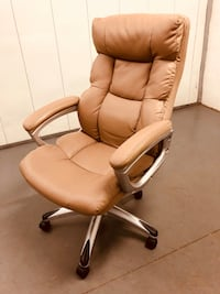 brown leather office rolling armchair Rockville, 20852