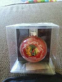 NHL Blackhawks glass ornament collector's edition Justice, 60458