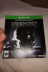 Dishonored 1 digital code pickup only.