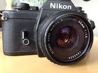 NIKON EM SERIES E 50MM & 75-150mm ZOOM LENS  Iconic Black Nikon Film SLR with Nikon Series E 50mm f/1.8 lens The usual great Nikon build quality and attention to detail. Great little film camera  Nikon EM Black - 35mm Analog Reflex Camera 24*36   Years of