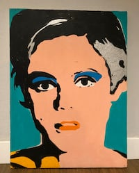 ART - Edie Sedgwick canvas painting for sale
