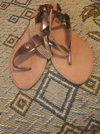 pair of brown leather sandals Hamilton