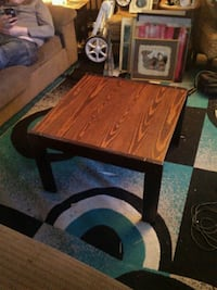 brown wooden framed glass top coffee table Edmonton, T5H 1T7
