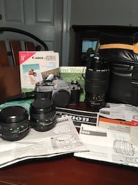 Canon AE-1 35mm camera with 3 lenses and case Lawrenceville, 30044