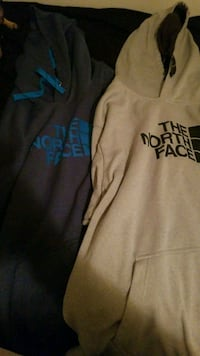 North face jackets gray is 2x and blue is 3x  Raleigh, 27606