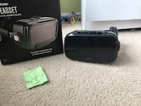 black VR headset with box