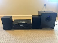Sony receiver, Polkaudio speakers and Energy subwoofer. Silver Spring