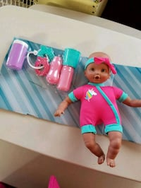 In Hollister- New- Baby Doll with Accessories  Hollister, 95023