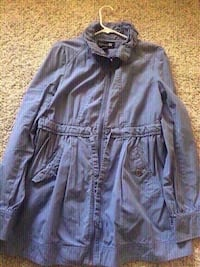 New forever 21 baby blue long coat size small. San Bernardino