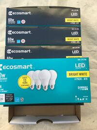 60 watt LED light bulbs, lighting, electrical, construction  Redlands, 92374