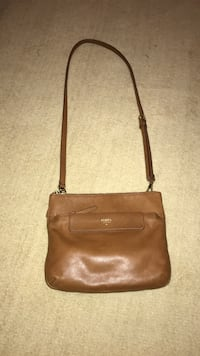 Women's brown fossil leather crossbody Springfield, 62711