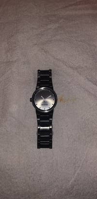 round silver analog watch with black link bracelet Chula Vista, 91911