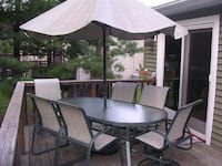 Carter Grandle Outdoor Patio Table Chairs Set Nanuet