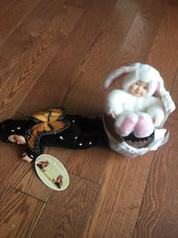 Two Anne Geddes dolls butterfly and bunny Toronto, M4E 3B7