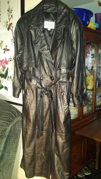 black leather trench coat Cherry Hill, 08002