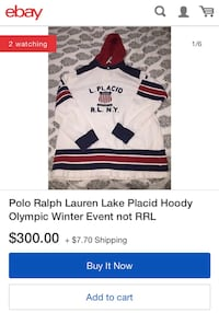 Polo Ralph Lauren Lake Placid Hoody Olympic Winter Event  New York, 11231
