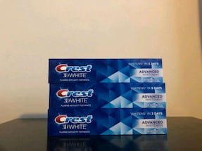 3 tubes of crest toothpaste