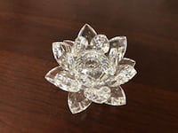Swavorski Silver Crystal Waterlily Candle Holder Coquitlam, V3B 6X6