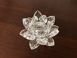 Swavorski Silver Crystal Waterlily Candle Holder