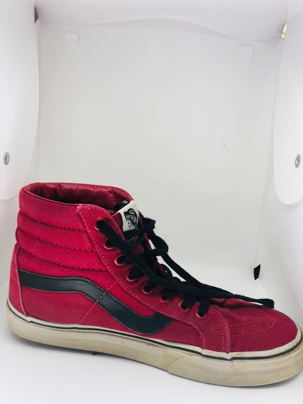 Red Vans Hightops size 8 Women's