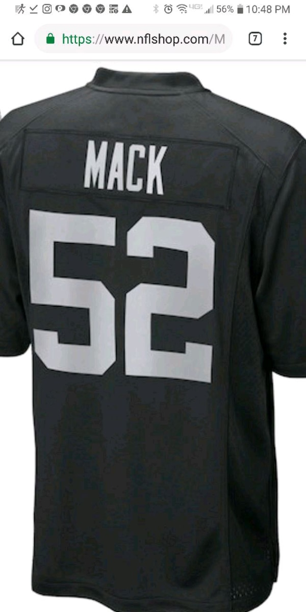 finest selection 2190d 4d081 Nike NFL Raiders jersey brand new never worn numbe