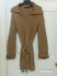EXPRESS RIBBED TAN SWEATER JACKET New Castle, 19720