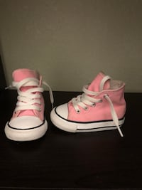 Toddler size 4C pink high top converse