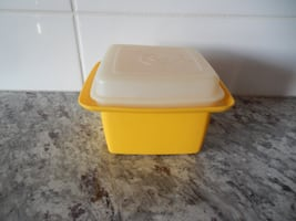 """*Vintage* Tupperware Butterdish in """"Harvest Gold"""". Some surface wear/marks $10 PU Morinville"""