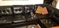 black leather 3-seat sofa Suitland-Silver Hill, 20746