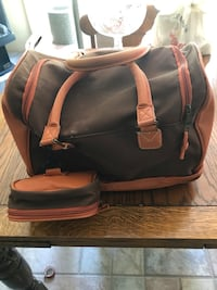 black and brown leather backpack Baltimore, 21236