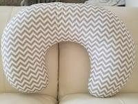 white and gray chevron printed neck pillow Pasadena, 77502