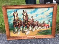 Vintage Budweiser Clydesdales 60s sign Hummelstown, 17036