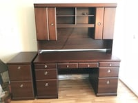 Brown wooden desk with hutch Vancouver, V6M 4C8