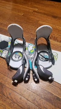 $150.00 Burton stigma snowboard and burton stiletto  bindings