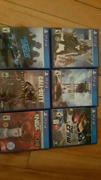 six assorted PS4 game cases Thorold, L2V 2A3