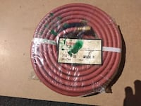 """THERMOID GRADE R TWIN WELDING HOSE - 25' X 1/4"""" B&B FITTINGS - 7109NLF-300  PRODUCT DESCRIPTION Meets RMA/CGA IP-7-2008 Specifications For use with welding fuel gas including acetylene Made in USA  VIEW MY OTHER ADS!!! Toronto"""