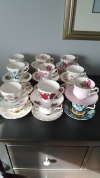 Assorted Tea Cups null