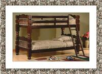 Twin wooden bunkbed frame free delivery Temple Hills