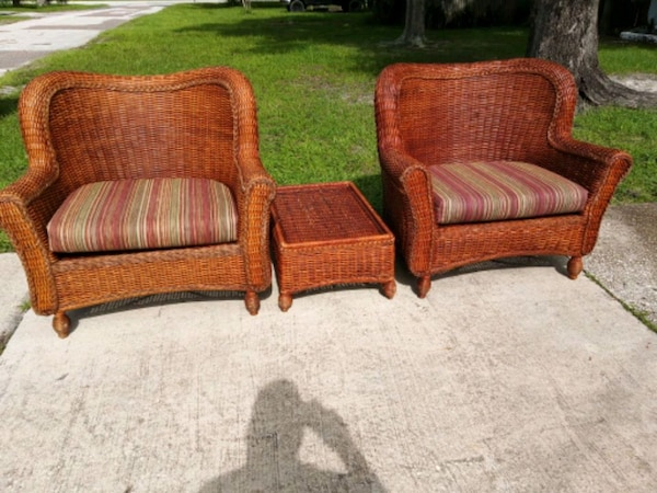 Magnificent Pier One Wicker Captains Chairs And Ottoman Andrewgaddart Wooden Chair Designs For Living Room Andrewgaddartcom