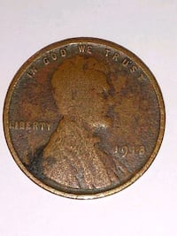 Old coins wheat penny Winchester, 03470