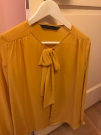 Zara Soft Mustard Blouse XS Washington, 20016