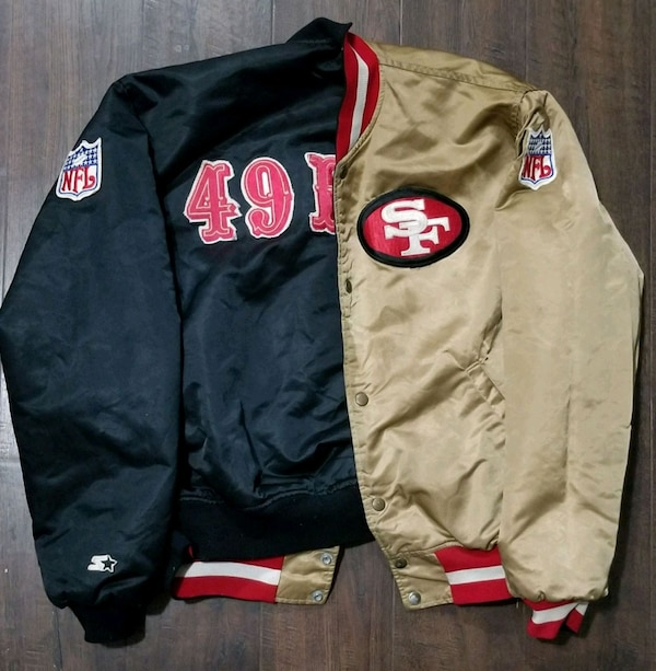 purchase cheap f7ff0 1ec13 black and red San Francisco 49ers jacket