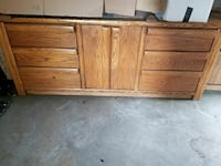 brown wooden sideboard Chicago, 60617