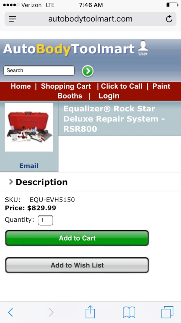 Equalizer Rock Star Deluxe Repair System Rsr800