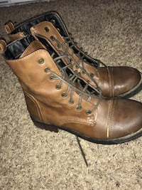 Size 6.5 Pair of brown leather boots/ shoes Normal, 61761
