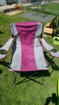 Grey & maroon camping chair Brockton, 02301
